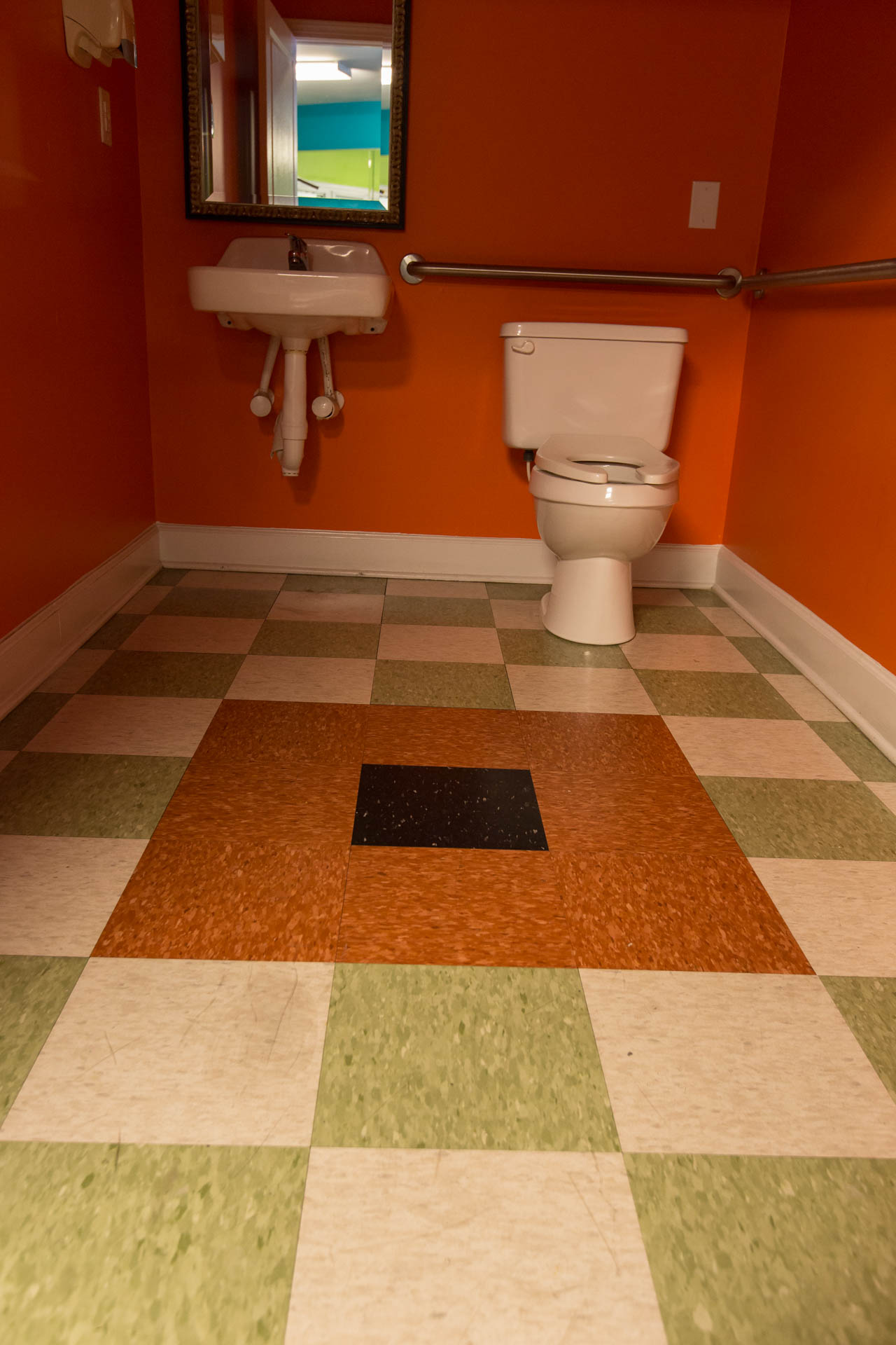 Restroom Floor Tile Installation